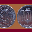 MEXICO 2011 10 CENTAVOS COIN KM#934 - UNC, BU - BEAUTIFUL!
