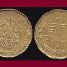 MEXICO 2008 50 CENTAVOS COIN KM#549 - Aztec Piedra del Sol