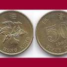 HONG KONG 1990 50 CENTS COIN KM#68 Asia