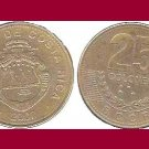 COSTA RICA 2007 25 COLONES BRASS COIN KM#229a Central America