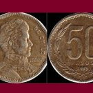 CHILE 1993 50 PESOS COIN KM#219.2 South America - Bernardo O'Higgins Riquelme
