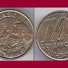 BRAZIL 2011 10 CENTAVOS COIN KM#649.2 South America - Dom Pedro