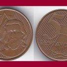 BRAZIL 2005 5 CENTAVOS COIN KM#648 South America