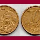BRAZIL 2002 10 CENTAVOS COIN KM#649.2 South America - Dom Pedro