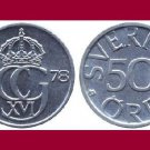 SWEDEN 1978 50 ORE COIN KM#855 Europe - King Carl Gustaf XVI