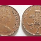 England Great Britain UK 1979 2 NEW PENCE BRONZE COIN KM#916 - Prince of Wales Badge