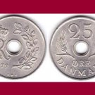DENMARK 1972 25 ORE COIN KM#855.2 - BU - BEAUTIFUL! - Europe - King Frederik IX