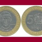 DOMINICAN REPUBLIC 1997 5 PESOS Bi-Metallic COIN KM#88 Caribbean - 50th Anniversary