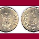 INDIA 2011 5 RUPEES COIN KM#399 - XF - Eurasia - Devanagari consonant
