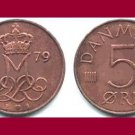 DENMARK 1979 5 ORE COIN KM#859.2 Europe - Queen Margrethe II