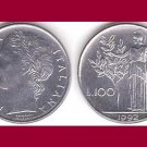 ITALY 1992 100 LIRE COIN KM#96.2 Europe - AU - BEAUTIFUL!