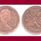 CANADA 1987 1 CENT COPPER COIN KM#132 North America - XF