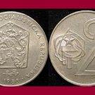 CZECHOSLOVAKIA 1983 2 KORUNY KCS COIN KM#75 Europe
