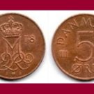 DENMARK 1978 5 ORE COIN KM#859.1 Europe - Queen Margrethe II