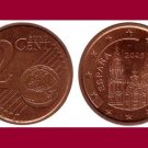 SPAIN 2005 2 EURO CENTS COIN KM#1041 Europe - Cathedral of Santiago de Compostela