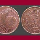 AUSTRIA 2002 1 EURO CENT COIN KM#3082 Europe - Gentian Flower
