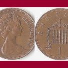 England United Kingdom Great Britain UK 1984 1 PENNY BRONZE COIN KM#927 - Queen Elizabeth II