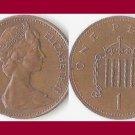 England United Kingdom Great Britain UK 1984 1 PENNY BRONZE COIN KM#927 - Queen Elizabeth II