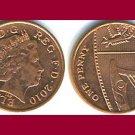 England United Kingdom Great Britain UK 2010 1 PENNY COIN KM#1107 - AU - BEAUTIFUL!