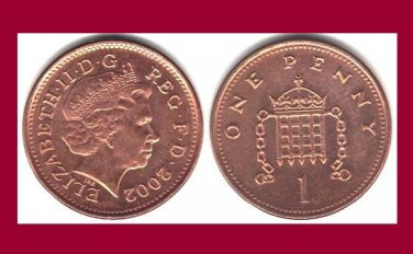 England United Kingdom Great Britain UK 2002 1 PENNY COIN KM#986a - AU - BEAUTIFUL!