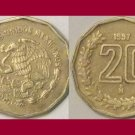 MEXICO 1997 20 CENTAVOS COIN KM#548 - Acatl Day of the Aztec Piedra del Sol
