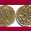 CANADA 1969 1 CENT COIN KM#59.1 North America