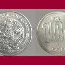 MEXICO 1994 10 CENTAVOS COIN KM#547 - BU - BEAUTIFUL! - Sacrifice of the Aztec Piedra del Sol