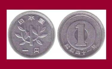 JAPAN 1966 1 YEN COIN Y#74 Asia - XF - Emperor Hirohito - Showa Era Year 41
