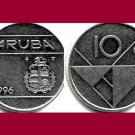 ARUBA 1996 10 CENTS COIN KM#2 Caribbean - LOW MINTAGE!