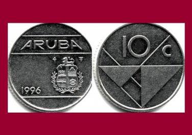 ARUBA 1996 10 CENTS COIN KM#2 Caribbean - LOW MINTAGE!