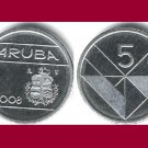 ARUBA 2008 5 CENTS COIN KM#1 Caribbean - BU - BEAUTIFUL!