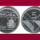 ARUBA 2008 5 CENTS COIN KM#1 Caribbean - BU - BEAUTIFUL!