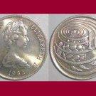 CAYMAN ISLANDS 1982 10 CENTS COIN KM#3 Caribbean Green Sea Turtle