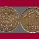 POLAND 1998 1 GROSZ BRASS COIN Y#276 - Crowned White Eagle
