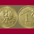 POLAND 2001 1 GROSZ BRASS COIN Y#276 - Crowned White Eagle