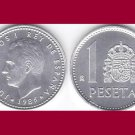 SPAIN 1986 1 PESETA COIN KM#821 Europe - King Juan Carlos I - BEAUTIFUL!