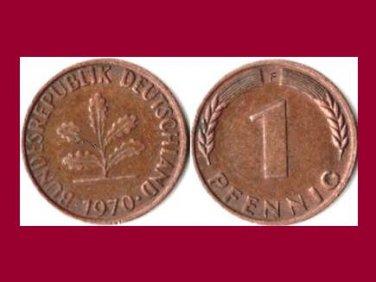WEST GERMANY 1970(F) 1 PFENNIG COIN KM#105 Europe - Federal Republic of Germany