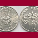 SINGAPORE 1986 10 CENTS KM#51 Asia - XF BEAUTIFUL! - Star Jasmine Flowers
