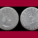 BELIZE 1994 5 CENTS COIN KM#34a Central America - XF - Bright & Shiny!