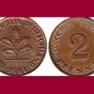 WEST GERMANY 1961(J) 2 PFENNIG BRONZE COIN KM#106 Europe - Federal Republic of Germany