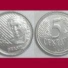 BRAZIL 1994 5 CENTAVOS COIN KM#632 South America - Tobacco and Coffee - BU - BEAUTIFUL!