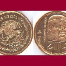 MEXICO 1984 20 CENTAVOS BRONZE COIN KM#491 - Olmeca Giant Head Statue