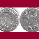 NETHERLANDS 1978 25 CENTS COIN KM#183 Europe - Queen Juliana - BU - BEAUTIFUL!