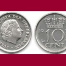 NETHERLANDS 1972 10 CENTS COIN KM#182 Europe - BU - Very Shiny! Beautiful!