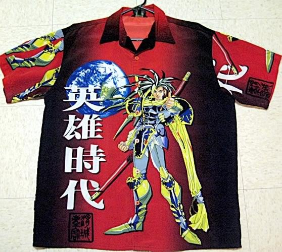 Cool Anime Shirt Men's Large Red