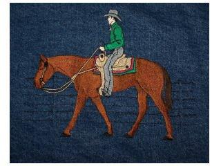 Western Pleasure Horse med denim jean jacket