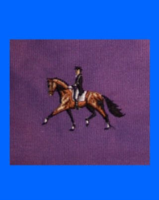 "Dressage horse & rider NEW 11"" tote bag"