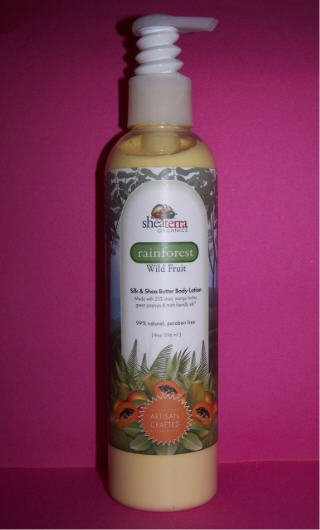20% shea butter lotion by SheaTerra Organics, Wild Fruit scent 8 oz.