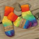 ORGANIC cotton TIE DYE infant socks by Maggie's Organics SALE PRICED!