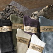 Organic cotton socks, TEAL by Maggie's Organics size 9-11